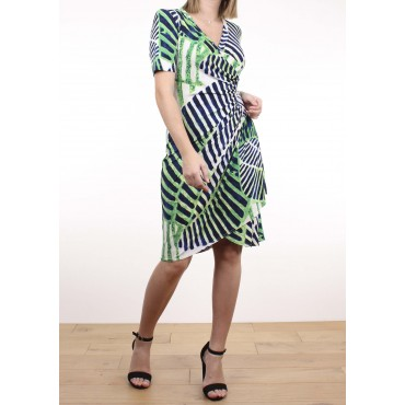 Cecile dress in printed jersey