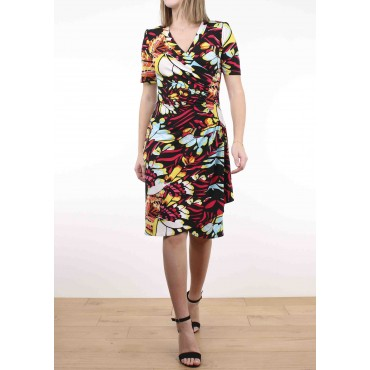 Cécile jersey printed dress