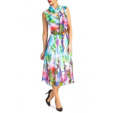 Arielle chiffon printed dress