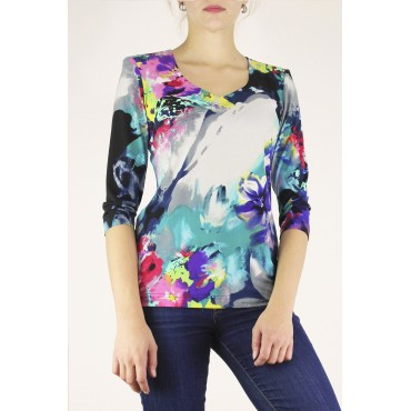 Alix printed top with...