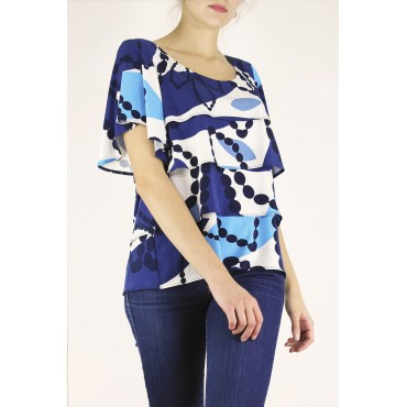 Abi top with printed jersey...
