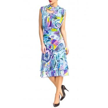 Printed Cassy Chiffon Dress