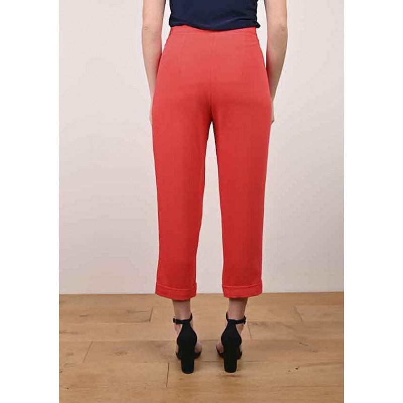 Pantalon Alessandra Fluide Rouge
