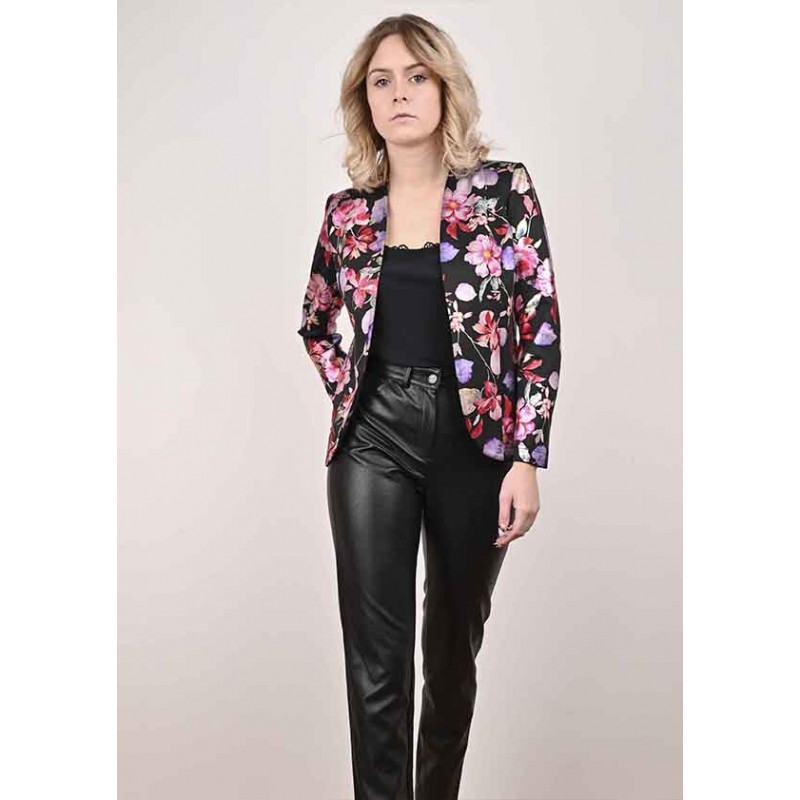 Gabby satin floral jacket