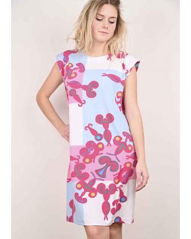 Robe Joan Ample en Jersey Imprimée