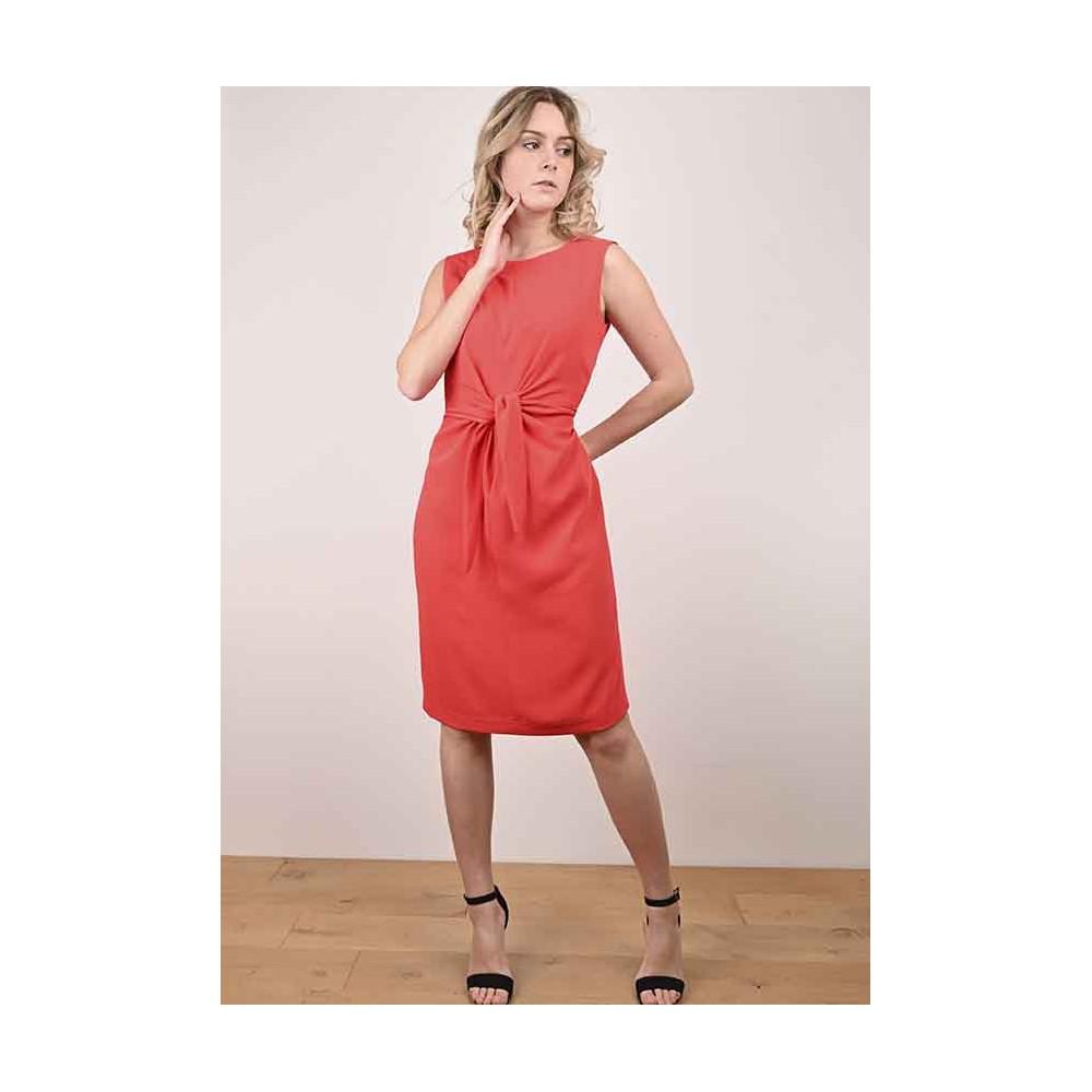 Robe Adélie Nouée Rouge