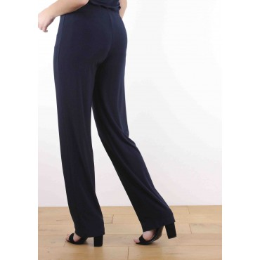 Pantalon Clara Droit Bleu Marine