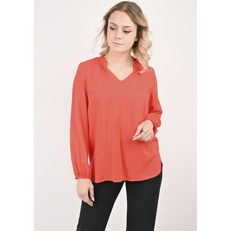 Top Emmy en Viscose Rouge