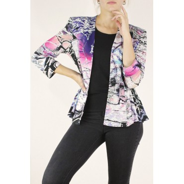 Melina jacket in printed...