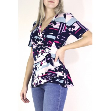 Helina top in printed...
