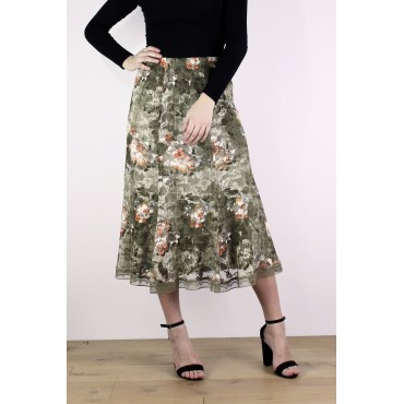 Manon skirt in printed lace