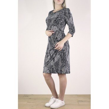 Rosa Dress in printed jersey