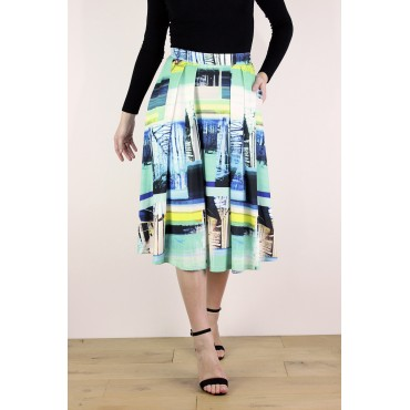 Julia jersey printed skirt