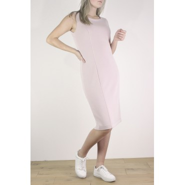 Adelyne dress in pink plain...